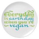 Everyday is Earth Day When You're Vegan Plate