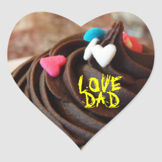 Everyday is Father's Day Heart Sticker