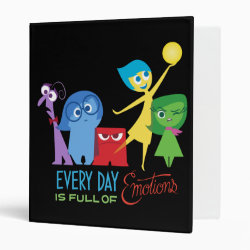 Avery Signature 1' Binder with Every Day is Full of Emotions from Disney Pixar's Inside Out design