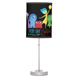 Table Lamp with Every Day is Full of Emotions from Disney Pixar's Inside Out design