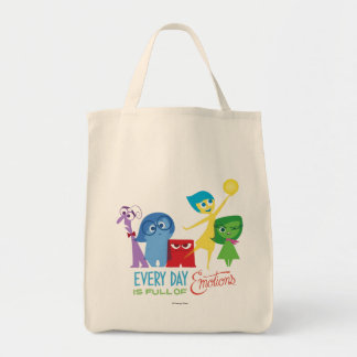 Everyday is Full of Emotions Grocery Tote Bag