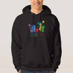 Men's Basic Hooded Sweatshirt with Every Day is Full of Emotions from Disney Pixar's Inside Out design