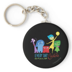 Everyday is Full of Emotions Basic Round Button Keychain