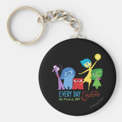 Basic Button Keychain with Every Day is Full of Emotions from Disney Pixar's Inside Out design