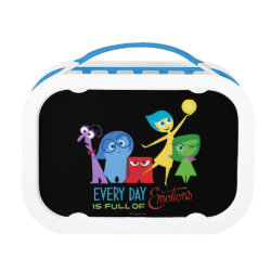 Blue yubo Lunch Box with Every Day is Full of Emotions from Disney Pixar's Inside Out design