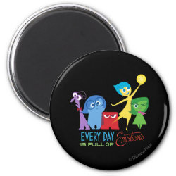 Round Magnet with Every Day is Full of Emotions from Disney Pixar's Inside Out design