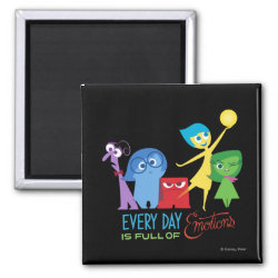 Square Magnet with Every Day is Full of Emotions from Disney Pixar's Inside Out design