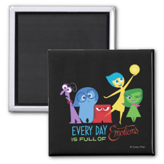 Everyday is Full of Emotions 2 Inch Square Magnet