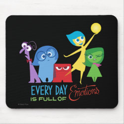 Mousepad with Every Day is Full of Emotions from Disney Pixar's Inside Out design