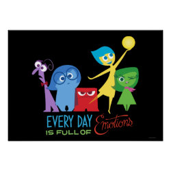 Matte Poster with Every Day is Full of Emotions from Disney Pixar's Inside Out design