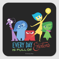 Square Sticker with Every Day is Full of Emotions from Disney Pixar's Inside Out design