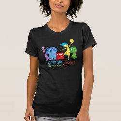Women's American Apparel Fine Jersey Short Sleeve T-Shirt with Every Day is Full of Emotions from Disney Pixar's Inside Out design
