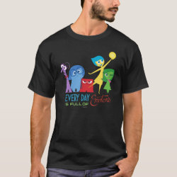 Men's Basic Dark T-Shirt with Every Day is Full of Emotions from Disney Pixar's Inside Out design