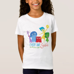 Girls' Fine Jersey T-Shirt with Every Day is Full of Emotions from Disney Pixar's Inside Out design