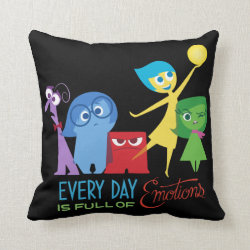 Cotton Throw Pillow with Every Day is Full of Emotions from Disney Pixar's Inside Out design