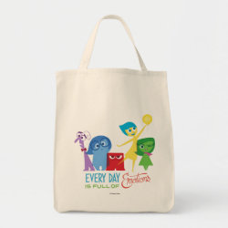 Grocery Tote with Every Day is Full of Emotions from Disney Pixar's Inside Out design