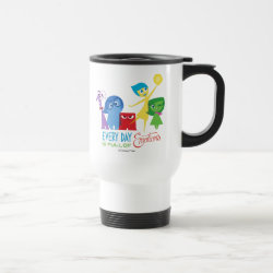 Travel / Commuter Mug with Every Day is Full of Emotions from Disney Pixar's Inside Out design