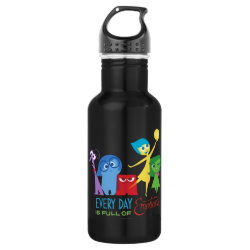 Water Bottle (24 oz) with Every Day is Full of Emotions from Disney Pixar's Inside Out design
