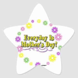 Everyday Is Mother's Day! Flower Ring Star Sticker