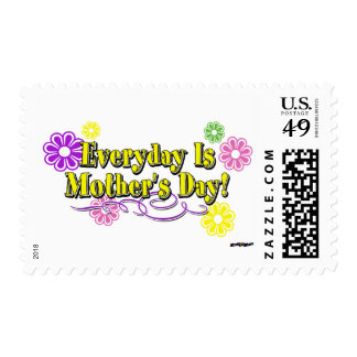 Everyday Is Mother's Day! Flowers & Type Postage