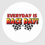 Everyday Is Race Day Round Stickers