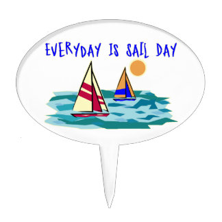 Everyday Is Sail Day Cake Toppers
