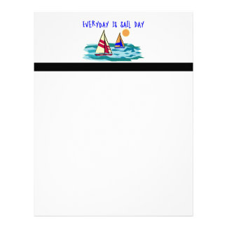 Everyday Is Sail Day Customized Letterhead