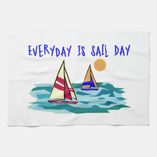 Everyday Is Sail Day Hand Towel
