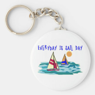 Everyday Is Sail Day Key Chains