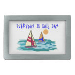 Everyday Is Sail Day Rectangular Belt Buckle
