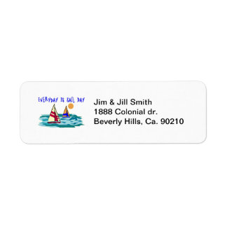 Everyday Is Sail Day Return Address Labels