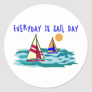 Everyday Is Sail Day Stickers