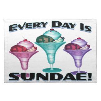 Everyday Is Sundae Ice Cream Cloth Placemat