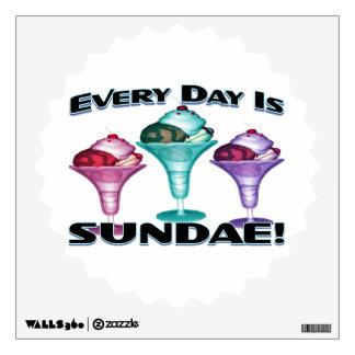 Everyday Is Sundae Ice Cream Wall Sticker
