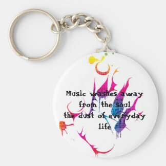 Everyday Life Basic Round Button Keychain