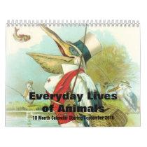 Everyday Lives of Animals Sept 2018 - 18 Months Calendar
