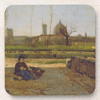 Everyday Scene, near Florence, c.1865 Beverage Coasters