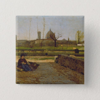 Everyday Scene, near Florence, c.1865 Pinback Button