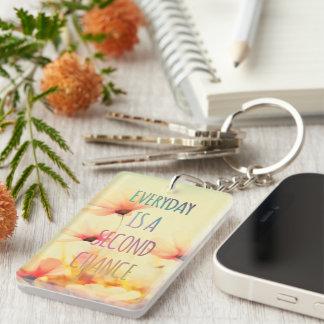 Everyday Second Chance SummerFlowers Inspirational Keychain