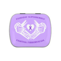 Everyday Superheroes - Fibromyalgia pill box Candy Tin