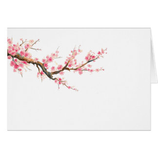 everyday watercolor cherry blossoms note cards
