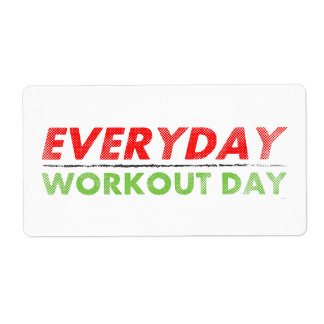Everyday Workout Day Label