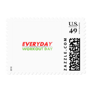 Everyday Workout Day Postage Stamp
