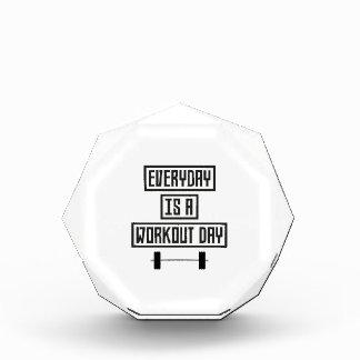 Everyday Workout Day Z3iqj Acrylic Award