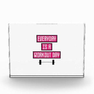 Everyday Workout Day Z52c3 Acrylic Award