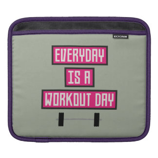 Everyday Workout Day Z52c3 iPad Sleeve