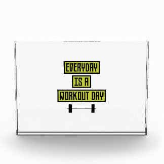 Everyday Workout Day Z81fo Acrylic Award