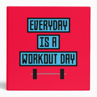 Everyday Workout Day Z852m 3 Ring Binder