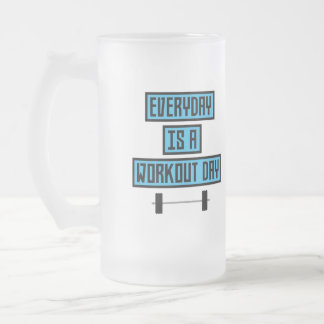Everyday Workout Day Z852m Frosted Glass Beer Mug