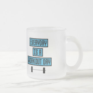 Everyday Workout Day Z852m Frosted Glass Coffee Mug